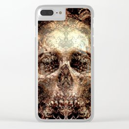 Expanding Skull Clear iPhone Case