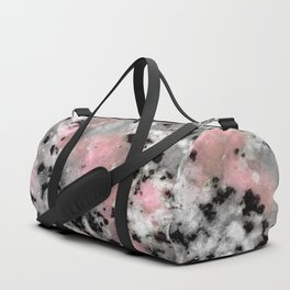 Black and Pink Granite Duffle Bag