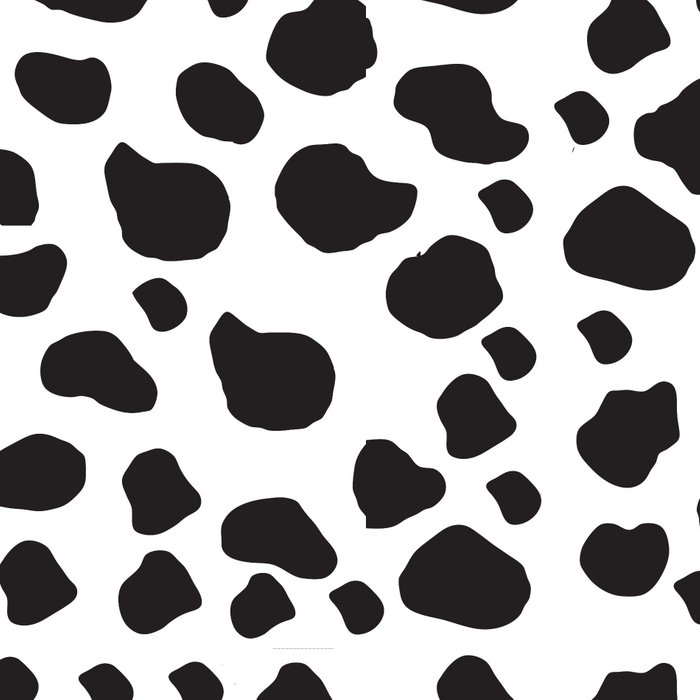 Animal Print (Cow Print), Cow Spots - White Black Leggings