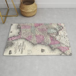 Vintage Map of The Eastern United States (1862) Rug