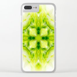 little green tile Clear iPhone Case