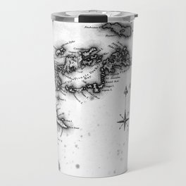 Vintage Map of The Virgin Islands (1823) BW Travel Mug