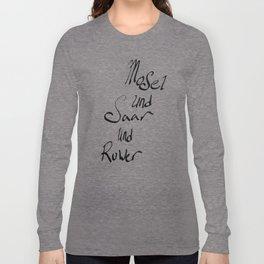Mosel und Saar und Ruwer Long Sleeve T-shirt
