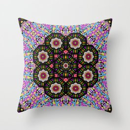 decorative ornate candy with soft candle light for peace Throw Pillow