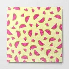 Summer Watermelon Metal Print