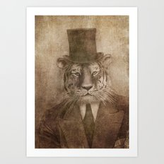 Sir Tiger Art Print
