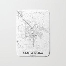 Minimal City Maps - Map Of Santa Rosa, California, United States Bath Mat