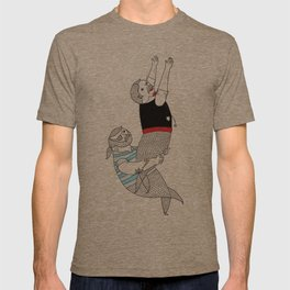 On how some species of mermen resolve trivial quarrels T-shirt