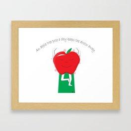 Apple Tree Pose Framed Art Print