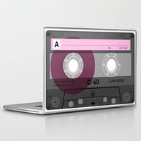 cassette Laptop & iPad Skins featuring Cassette by Sedef Uzer