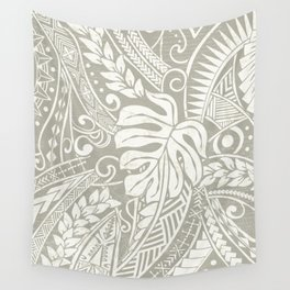 Vintage Organic Samoan Tribal Design Wall Tapestry