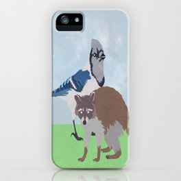Mordecai and Rigby iPhone Case