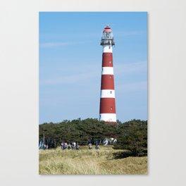 Lighthouse Ameland Island (Bornrif) (waddenzee) The Netherlands, Friesland Canvas Print