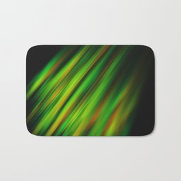 Colorful neon green brush strokes on dark gray Bath Mat
