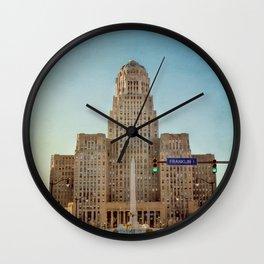 Down Town City Hall Buffalo NY Wall Clock