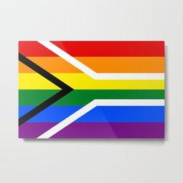 South African rainbow lgbt gay pride flag Metal Print
