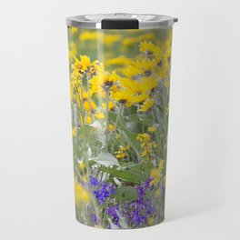 Meadow Gold - Wildflowers in a Mountain Meadow Travel Mug