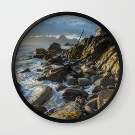 The Cuillin From Elgol Wall Clock