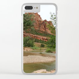 Temple of Sinawava And Virgin River Clear iPhone Case