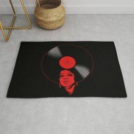 Afrovinyl (Red) Rug