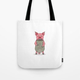 pig and bag with gold coins Tote Bag