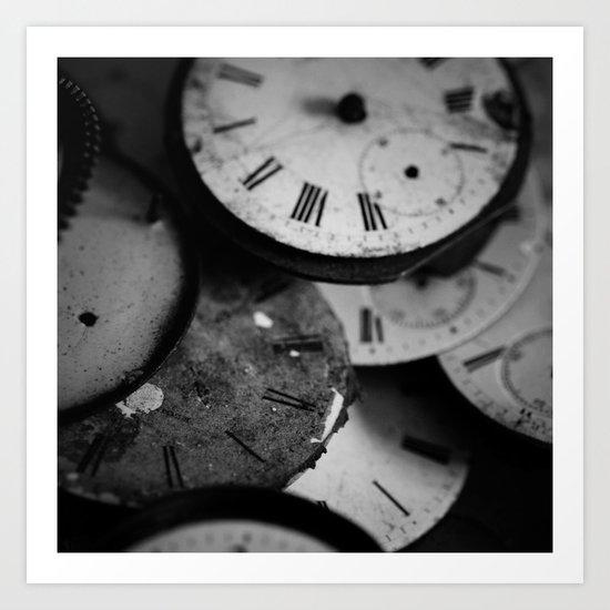 Time - Black and White Art Print
