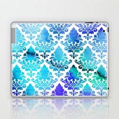 Damask in Cool Purple Laptop & iPad Skin