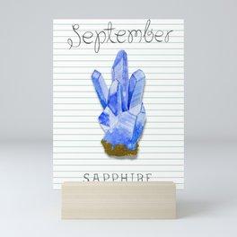 September Birthstone Sapphire Mini Art Print