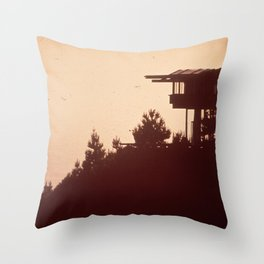 Southern California Point Lobos Reserve NARA 543338 Throw Pillow