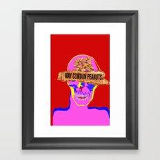 may contain peanuts Framed Art Print