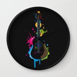 Graffiti guitar Wall Clock