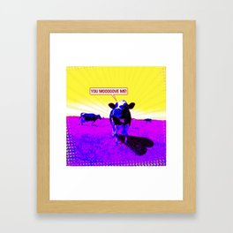 Psychedelic Cows Framed Art Print