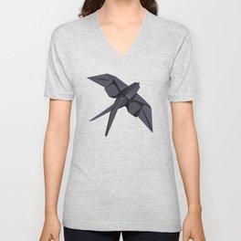 Origami Swallow Unisex V-Neck