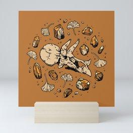Triceratops Rocks! | Citrine Quartz Mini Art Print
