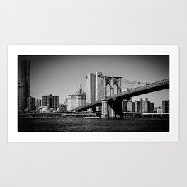 Brookly Bridge Art Print