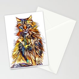 Mixed Up Maine Coon Stationery Cards