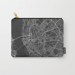 Liverpool Map, England - Gray Carry-All Pouch