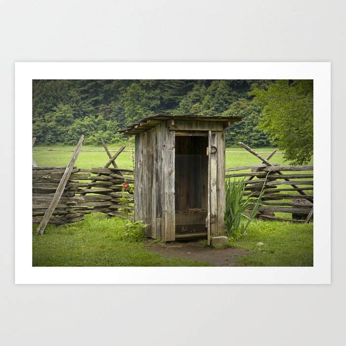 Old Outhouse Art Print Home Decor Wall Art Poster