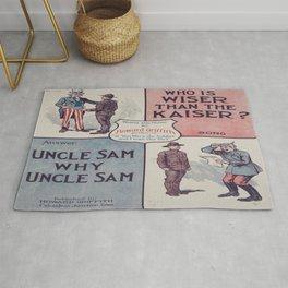 Vintage Military Poster Rug