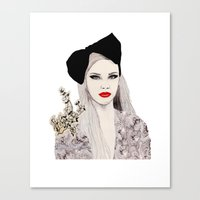 bow Canvas Prints featuring Bow by Melania B