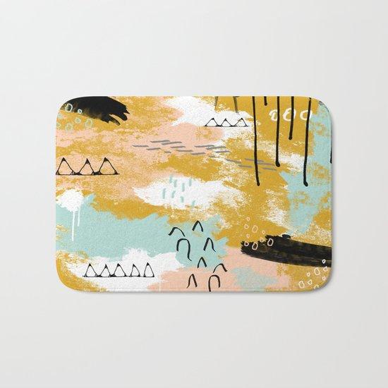 Presence of Life, Abstract Tribal Art Bath Mat