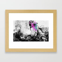 Planet.X2Y23-Flower Framed Art Print