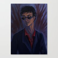 good omens Canvas Prints featuring Good Omens: Crowley by Katerina Romanova