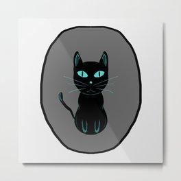 black cat love Metal Print