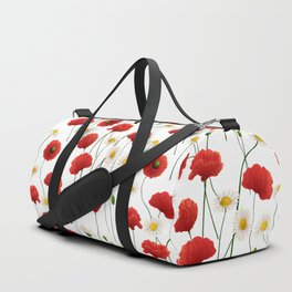 Poppies and daisies Duffle Bag