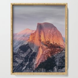 Sunset in Yosemite National Park, North America from Glacier Point  view Serving Tray