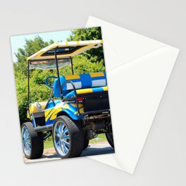 Two Tone Golf Cart Stationery Cards