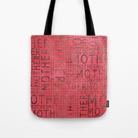 mother Tote Bags featuring Mother by CatDesignz