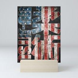 Jiu Jitsu, American Flag, MMA winner Mini Art Print