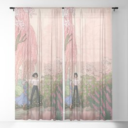 Howls Moving Caslte Sheer Curtain